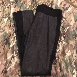 CAbi vegan leather leggings - size M